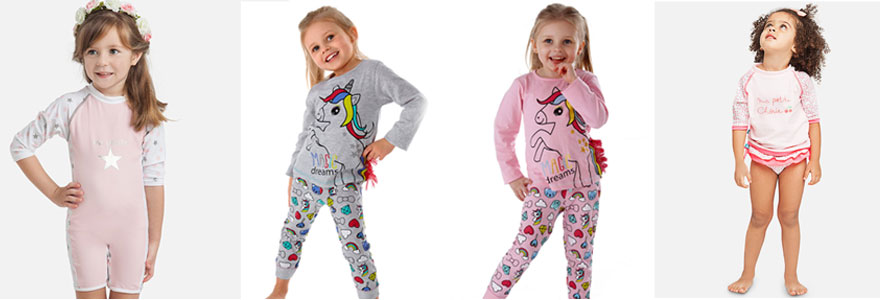 sous-vetements et pyjamas pour votre fille